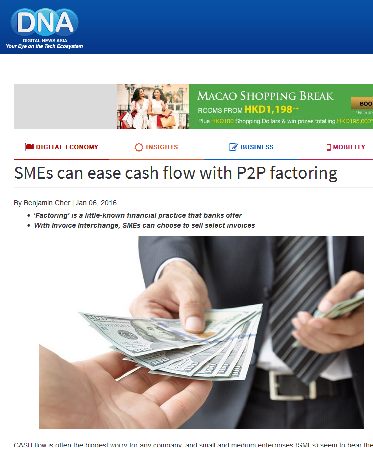 cash flow p2p factoring, cash flow, p2p factoring, peer-to-peer singapore, digital news asia